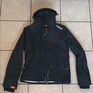 Super warm SUPERDRY Windcheater black winter coat